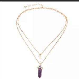 Jewelry - Boho double layer purple Chakra necklace